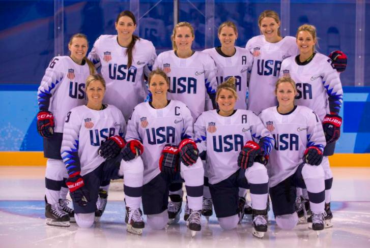 The 2018 U.S. Women's Hockey Team. PC: Women's Olympic Teams.