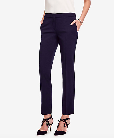 Show off the shoes with an ankle pant.