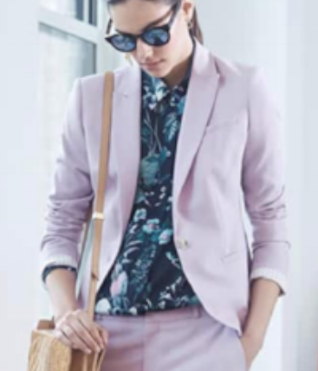 Ooh la lavender. A different suit shade can make a great impression.