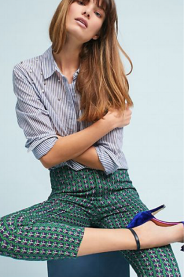 A patterned pant makes a great interview statement.