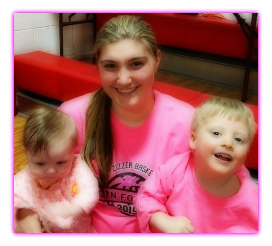 We love watching the Lady Zizzers play basketball, especially Kasey, Charlie's budding!