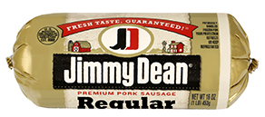 Image from http://www.jimmydean.com/Products/Fresh-Sausage/Premium-Pork-Regular-Sausage.