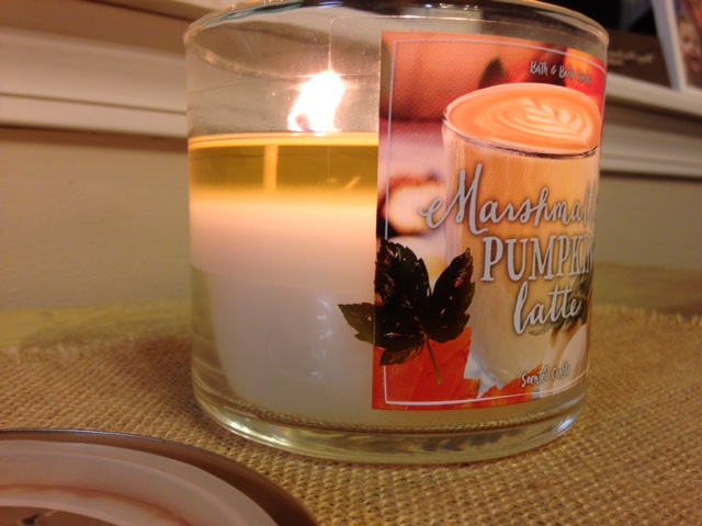 Fall candle lit