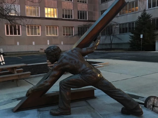 Baltimore artist William F. Duffy created the Pennsylvania Worker statue.