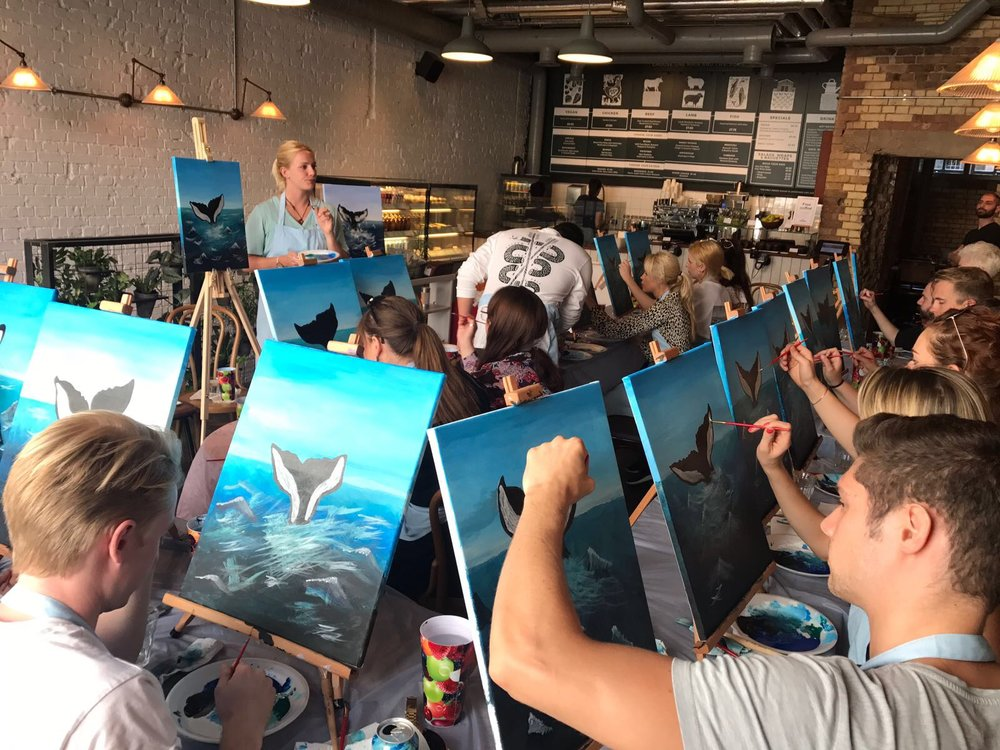 Whale painting nearly complete.