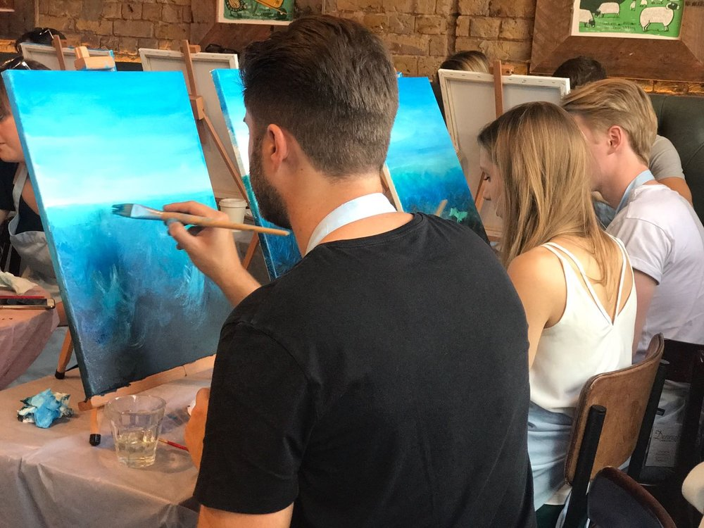 Half way through Whale painting session