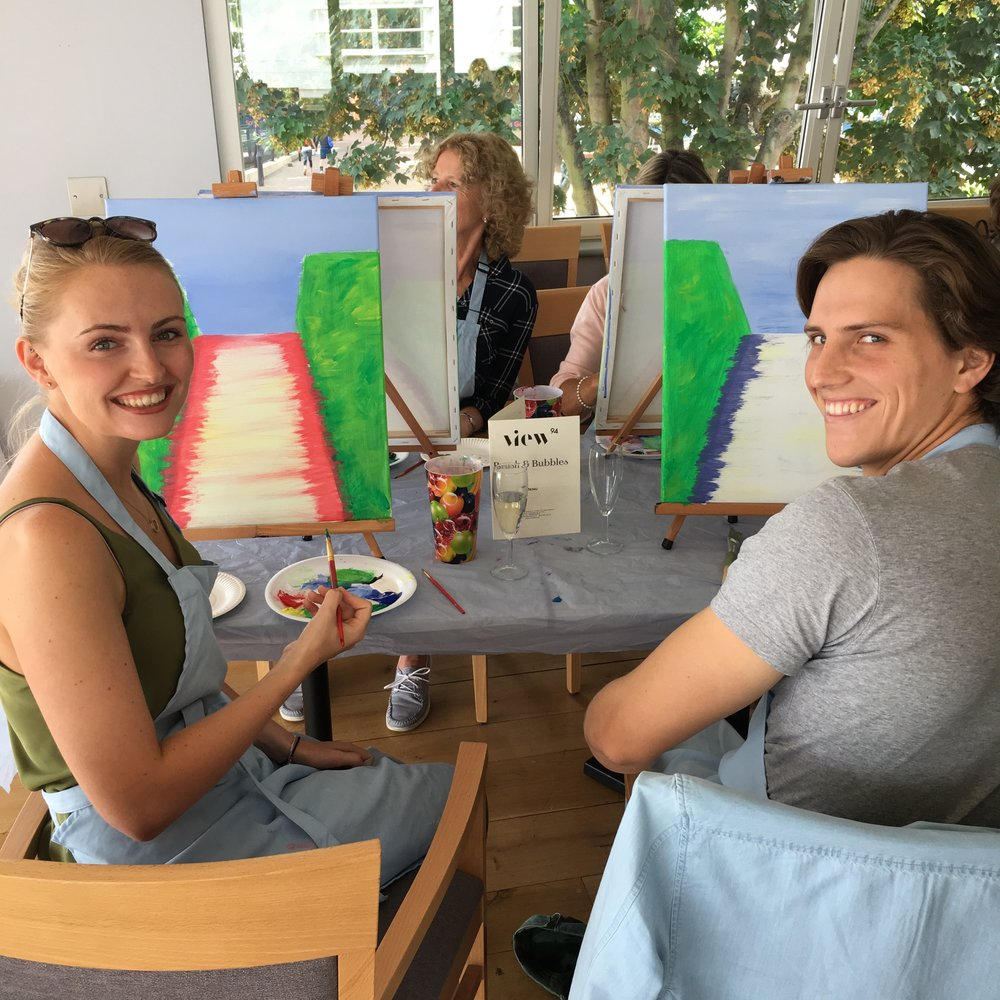 Date day with painting and prosecco!