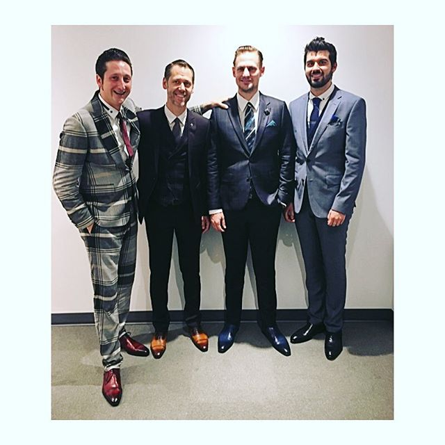 It's been so wonderful working with such a talented group of guys! We're so excited to show you these dapper jazz cats! Styled by: Lanotta Studio #custom #tailoring #styling #suits #jazz #makeithappen ❤️🕴👔👞🎷🎺🥁🎹💙