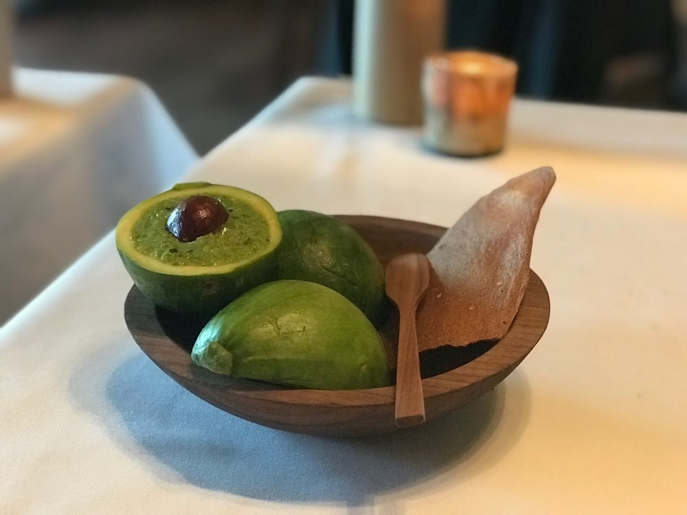 This was presented as a Squash that Wants to be an Avocado, and it was a green squash that was made to resemble guacamole.