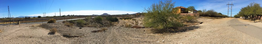 Pictured Above: The existing site for Meander Bend Park, a currently unused open space along the Santa Cruz River.