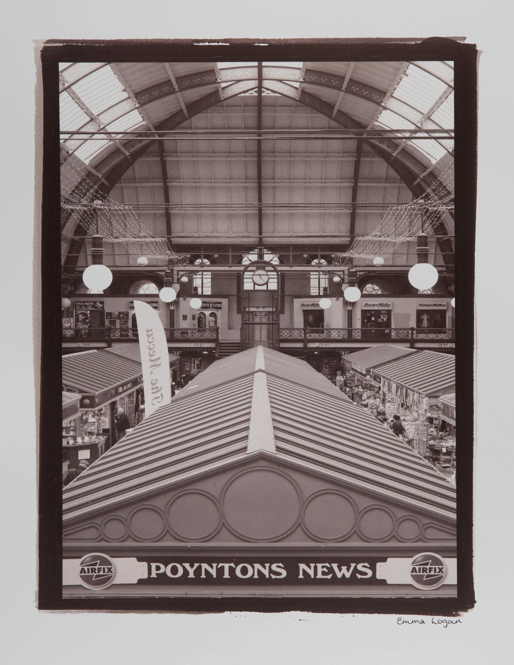 "The Derby Market Hall. Digital Negative Salt Prints. Original size - 16x20""."