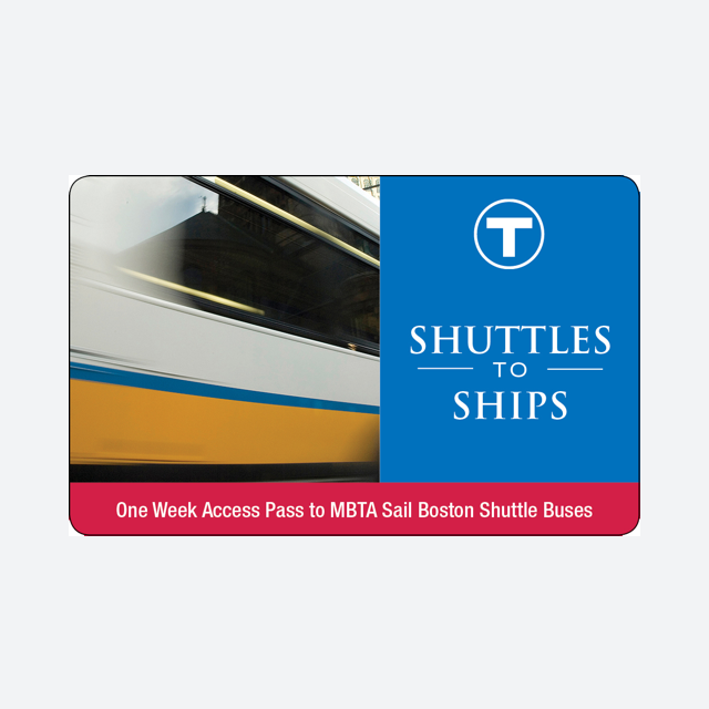 Shuttles to Ships $5.00 Valid for unlimited use on the following MBTA Sail Boston express shuttle buses June 17-21, 2017: ·        JFK/UMass to Castle Island: Runs June 17 only ·        Sullivan to Charlestown Navy Yard: Runs June 17-21