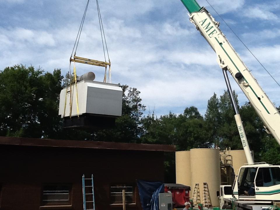 Hemby Bridge WWTP - Installed 400kW Generator.