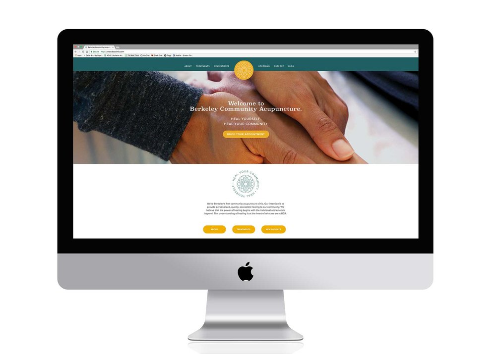 Custom website design in Squarespace for healthcare and wellness.