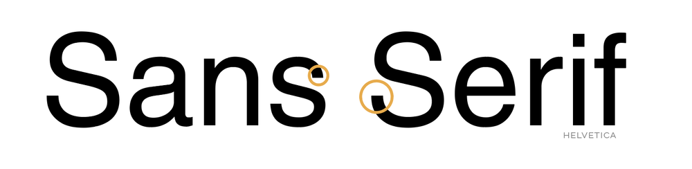 Sans serif fonts have a more modern and minimalistic feel. These have recently risen in popularity and are well-favored in the age of computers since it's easy to read a sans-serif font at a small size.