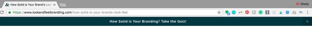 branding quiz share