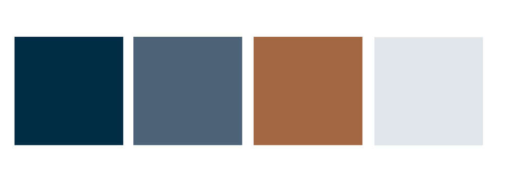 Color Palette for Lummi Island Realty