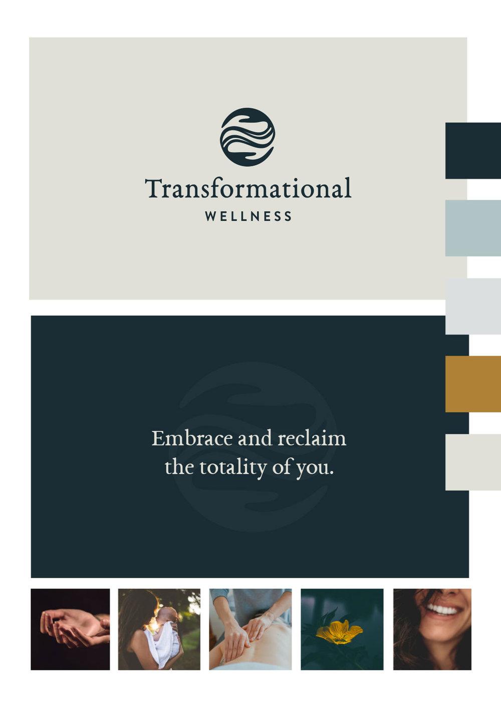 Transformational Wellness Logo Design, Tagline, Color Scheme, and Mood board