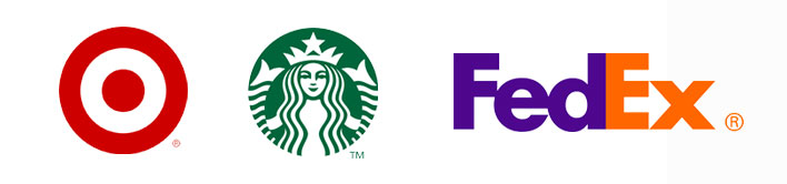 Logo of major brands have great brand recognition among their consumers.