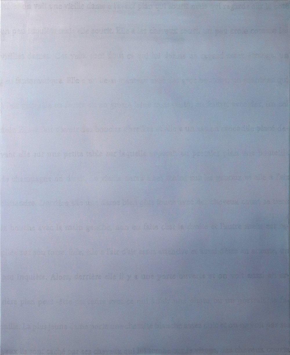 Huile sur toile, graphite, 80 x120 cm
