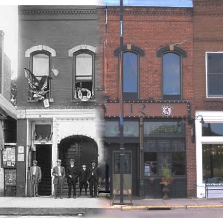 This is a Time Tunnel photo from 1917 to 2016.  Photo credit is John Runk and R.Molenda, courtesy of Stillwater Public Library.  This building still stands today and is Pub 112.
