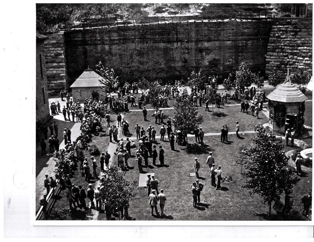 Recreation Time - Territorial Prison ca.1900'sPhoto credit, Mr. John Runk, courtesy Stillwater Public Library
