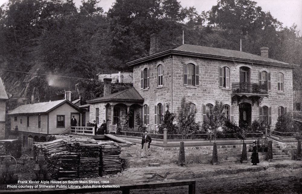 This was the home that Mr. Aiple built next to the Northwestern Brewery Building at this location. The year was 1868.