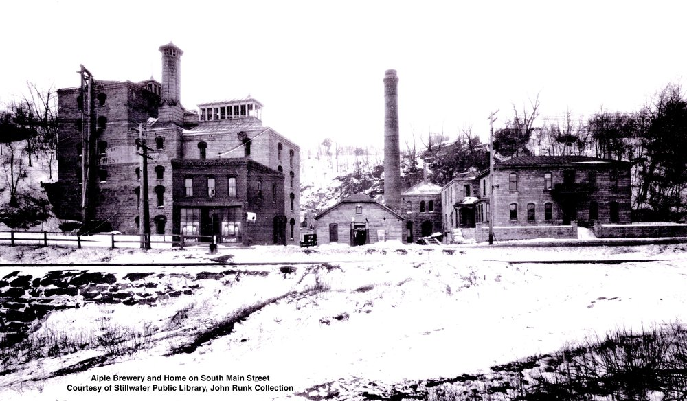 A later view of the Frank Apple House and Northwestern Brewery Building. Date is unknown.   To view this same location as it appears in 2016, just Click or Tap the photo above. Credit attribution to Google Maps Street View 360.