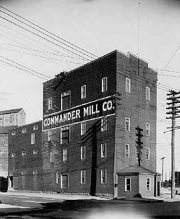 Flour Mill Building on Nelson and Main Streets. The Commander Elevator is in the background. The view is to the southeast.