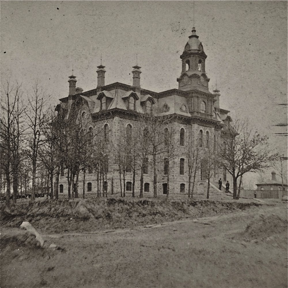 The year was 1873. The location was between 3rd and 4th Streets and Laurel and School Streets on the North Hill. Photo credit is Mr. James Sinclair, courtesy of the New York City Public Library. The vantage point is looking to the southeast.
