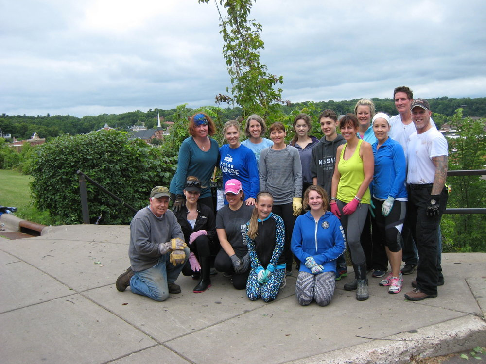 "Volunteers for the 2017 Main Street Stairs ""Great Idea for 2017"" project,  June 29, 2017."