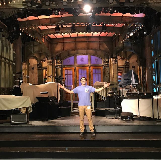 LIVE FROM NEW YORK!! I Got to visit the Saturday Night Live set today at 30 Rock!! I've always dreamt of seeing this studio!!!! 🎭