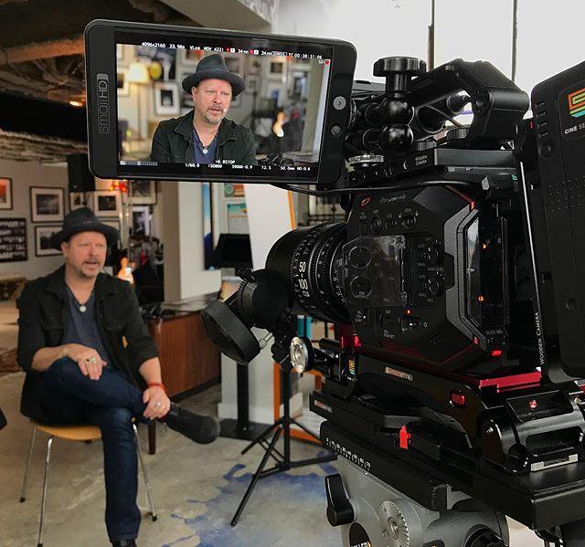 Shooting @dannybones64 today at his gallery ! @732_productions @tinakerekes #eva1