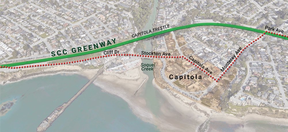 Capitola Trestle — Rail-with-Trail Detour