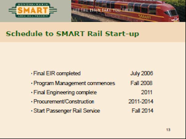Train Service would begin in 2014