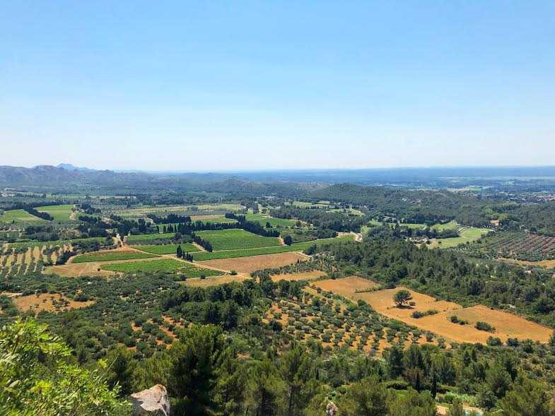 The view from Les Baux