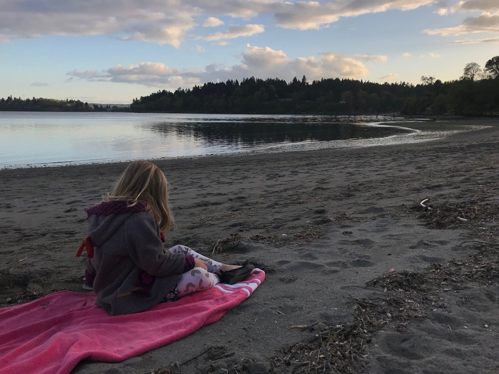 Watching the sunset on Vashon