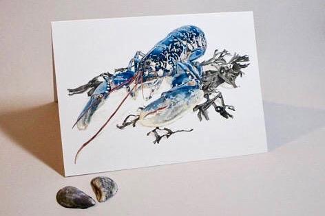 Native Lobster, greetings card