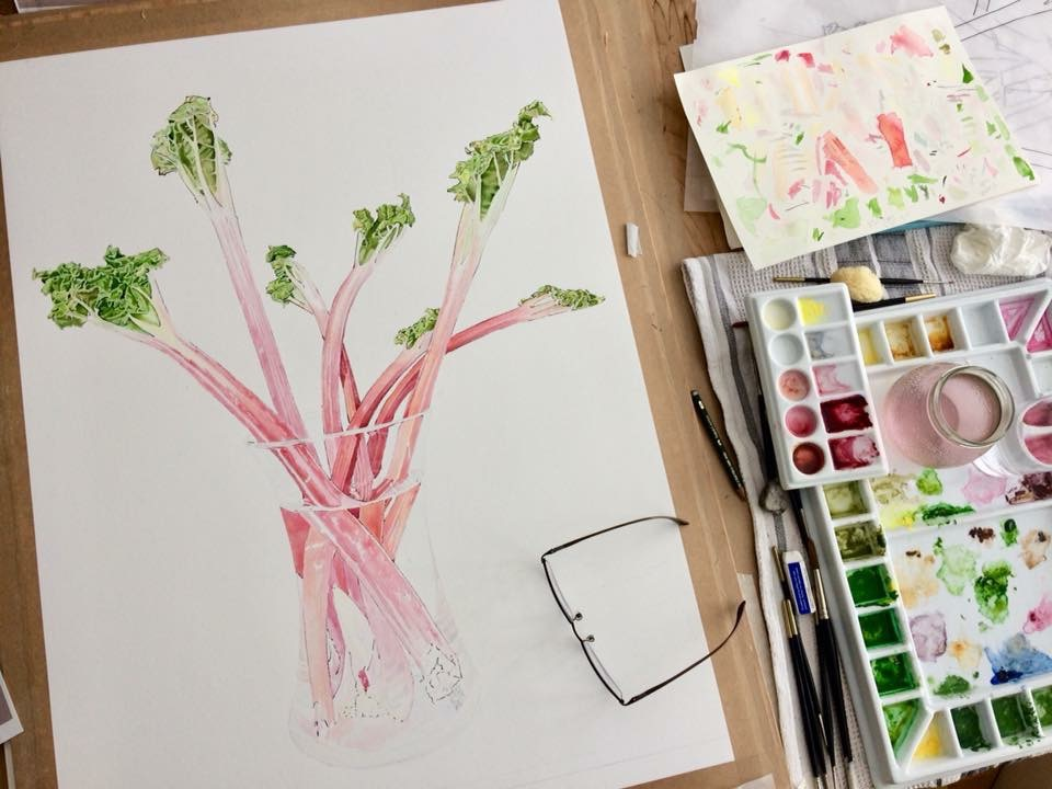 Rhubarbrhubarb in progress