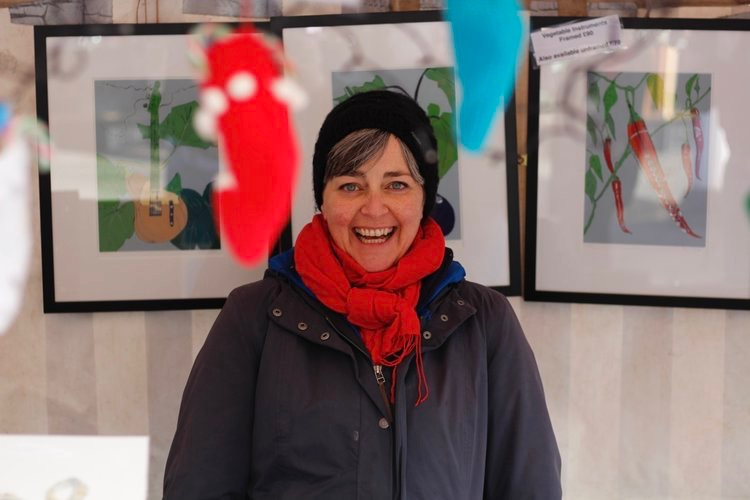 The Pantiles Christmas Market - Artist Lucy Clayton