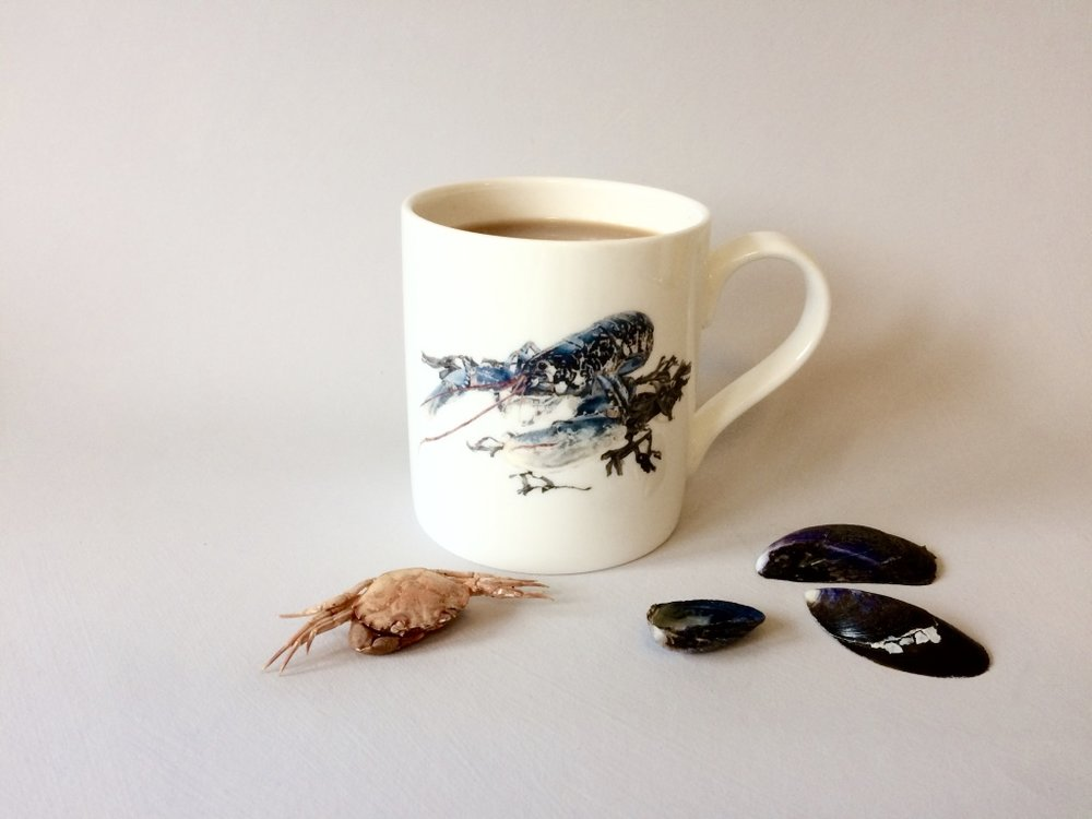Native Lobster Bone China Mug