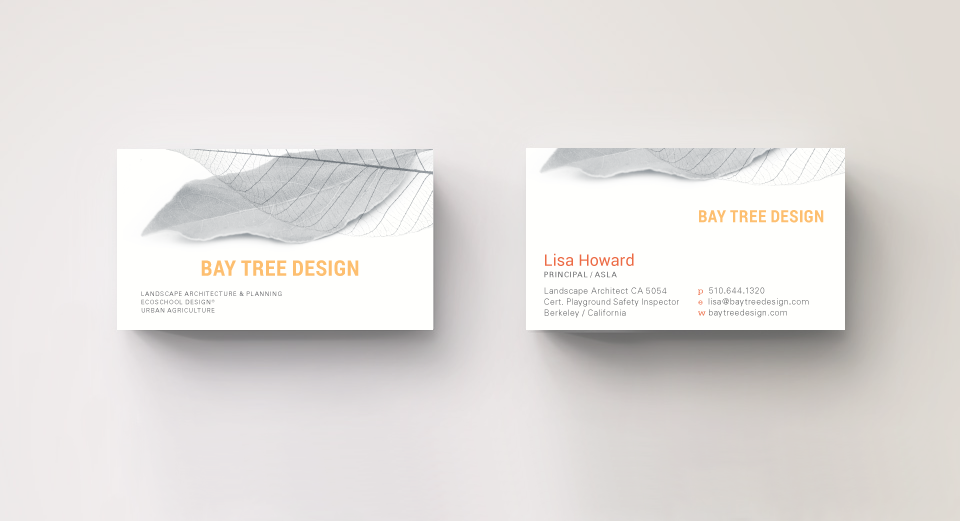 Marion riggs bay tree design bay tree design business card colourmoves