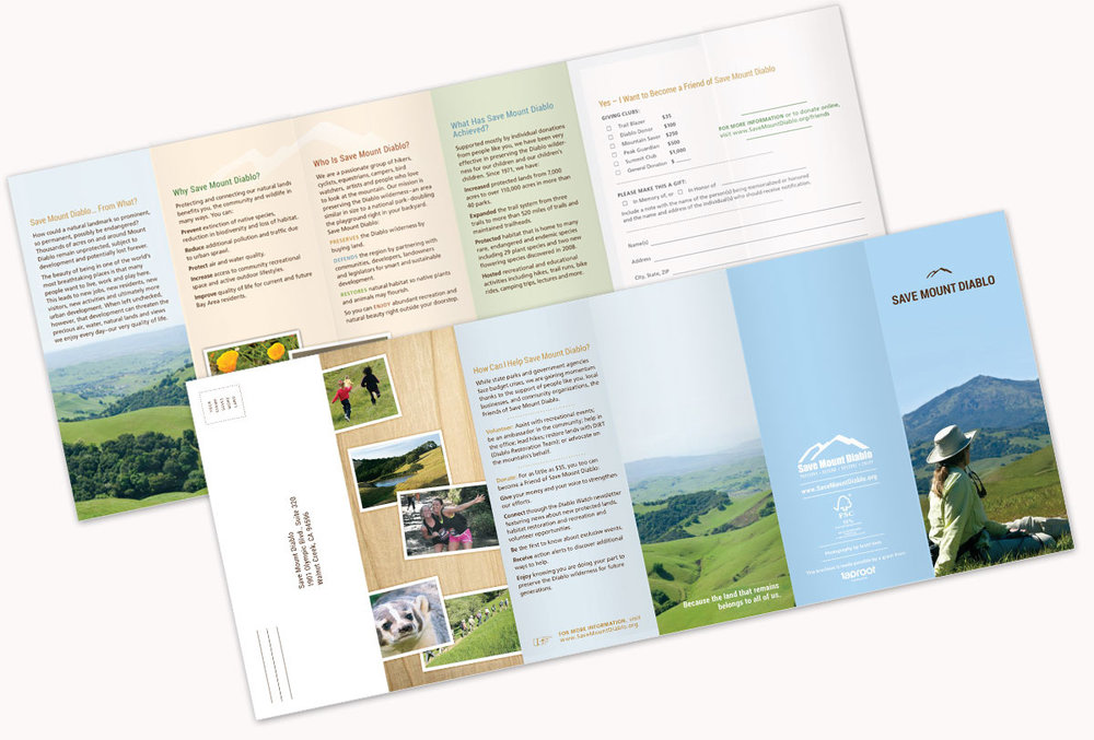 Save Mount Diablo Five-Fold Brochure