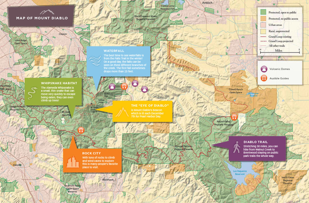 Save Mount Diablo Children's Magazine Map