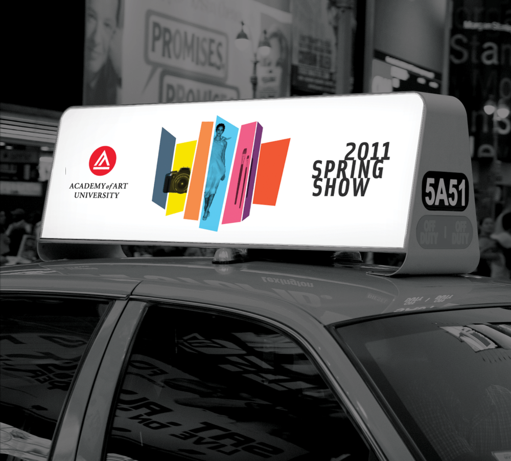 Art Show Taxi Sign