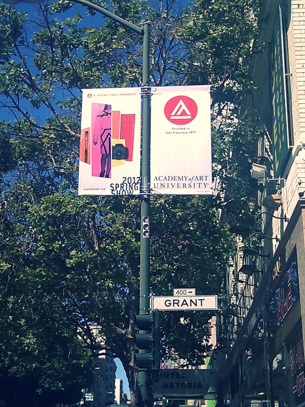 Art Show Lamppost Banner San Francisco