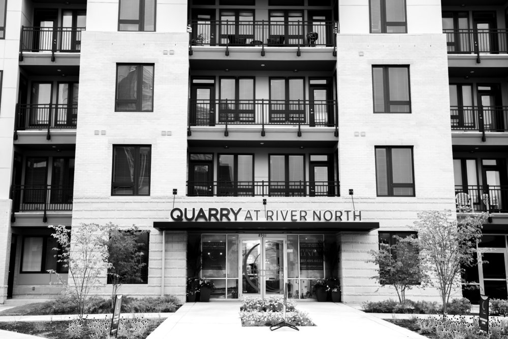 QUARRY APARTMENTS   Built in the urban dream of Keystone Crossing, Quarry at River North residences have been designed for you to enjoy the luxuries of home, while having access to the lifestyle you deserve: live, work, and play without compromises.  Indulge in the Luxury.