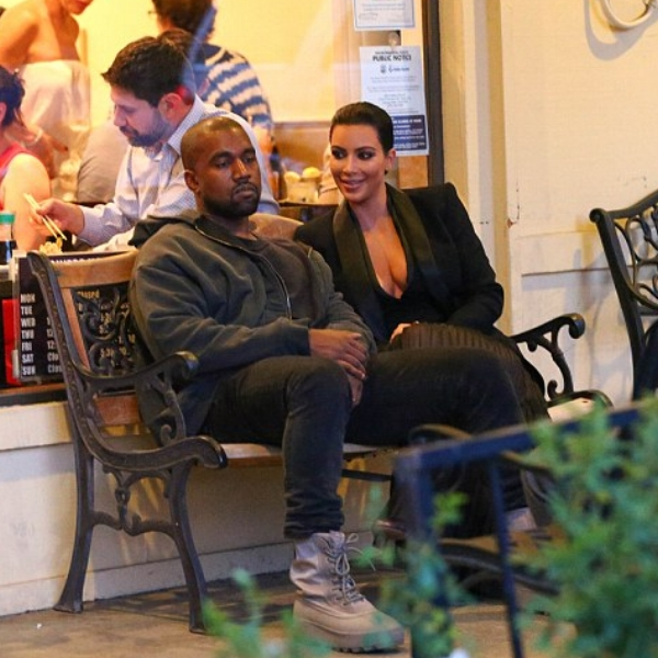 """Kanye and Kim wait """"patiently"""" for their table at Shibuya"""