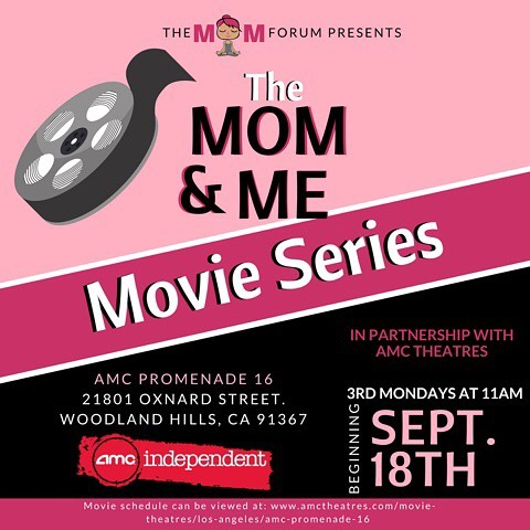 Announcing The Mom & Me Movie Series in partnership with AMC Promenade 16 in Woodland Hills. Family friendly movies in a family friendly environment every 3rd Monday at 11am. It all starts September 18 with LEAP! We hope to see you and your kiddos there!