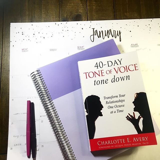 It's a New Year! Have you set any goals for yourself? At The Mom Forum we want to read more so we decided to launch a virtual book club. Join us for our first book 40 Day Tone Of Voice Tone Down with author, speaker and Family StrategistTM @beingcharlotteavery. Click the link in our bio to join The Mom Forum Book Club. #mombookclub #virtualbookclub #parentingbooks